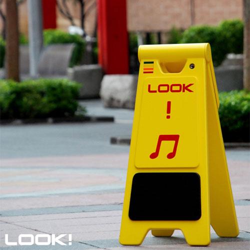 Рекламная стойка для уличных музыкантов