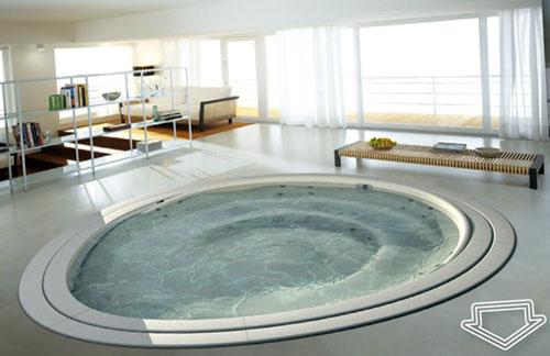 Ванна с гидромассажем для спа-салона