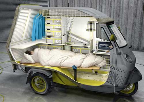 Спальное место для одинокого путешественника