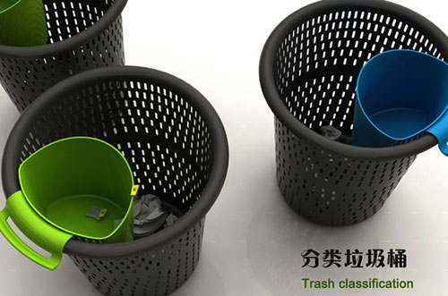 Корзина для мусора «два в одном»