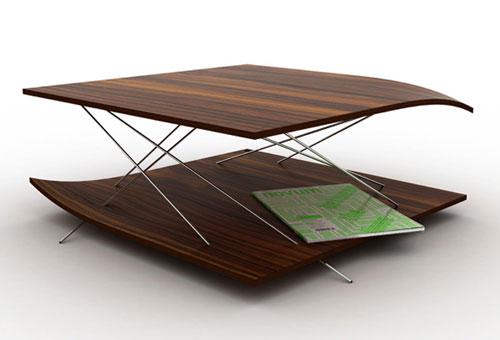 Журнальный столик на спицах