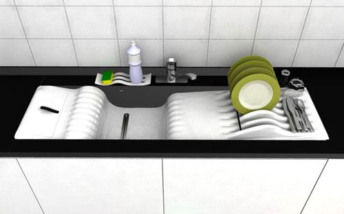 Четырехступенчатая мойка посуды
