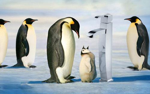 Смеситель-пингвин