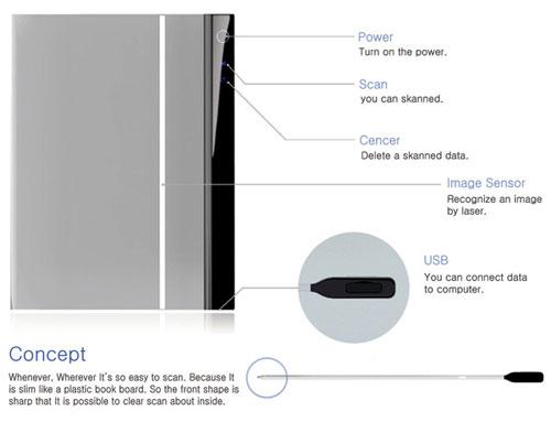 Концепт супертонкого сканера