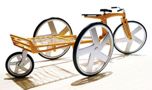 Экологичный грузовой велосипед