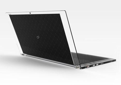 Прозрачный ноутбук на солнечных батареях
