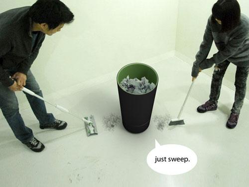 Вакуумная корзина для мусора
