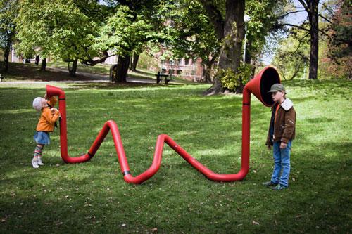 Интерактивная звуковая скульптура