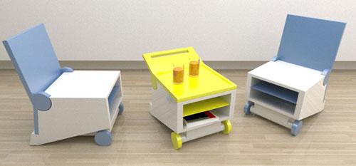 Стул и стол — два в одном