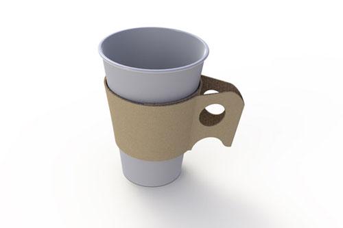 Картонная подставка для стаканчика с кофе