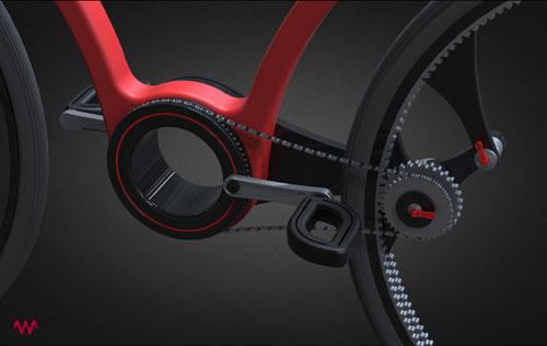 Велосипед с необычными колесами Твист Байк