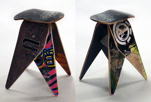 Мебель из старого скейтборда