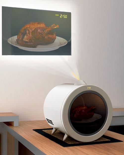 Микроволновка-проектор: контроль за едой на расстоянии