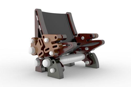Кресло в стиле стимпанк (steampunk)