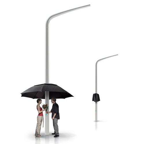 Зонтик на столбе