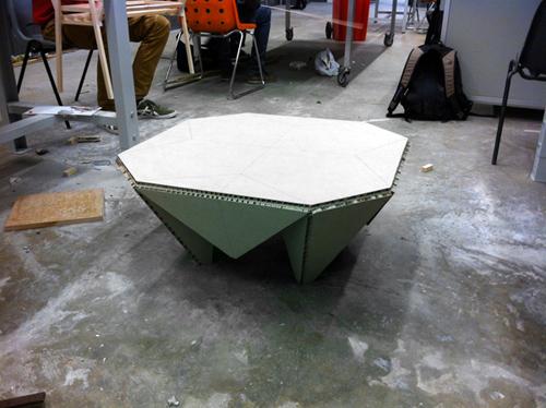 Миура: стол-оригами