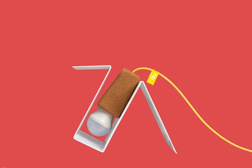 Glint: лампа с магнитом