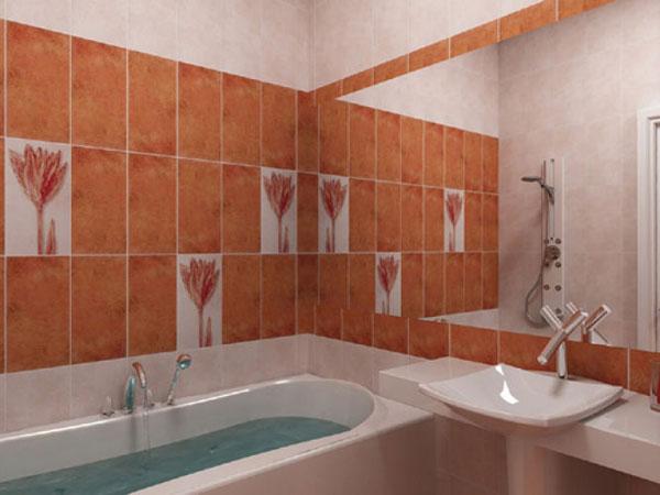 Фото Интерьер маленькой ванной с большим зеркалом