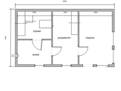 Выбор места под строительство и планировка бани