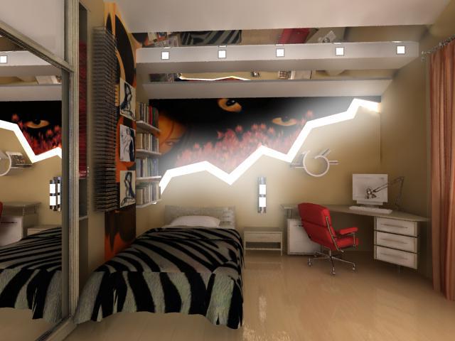 Стильный интерьер в комнате для подростка