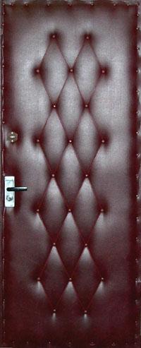 Обивка дермантином деревянной входной двери своими руками