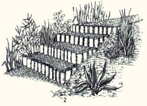 Садовая лестница из грунта