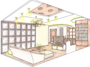 Фото Планировка гостиной в 3-х или 4-х комнатной квартире