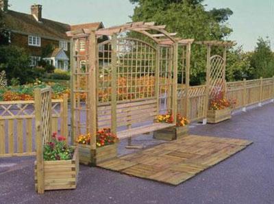 Садовая пергола: металлическая, деревянная и комбинированная
