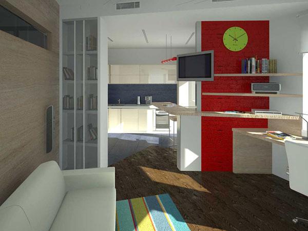 Фото Дизайн интерьера квартиры-студии