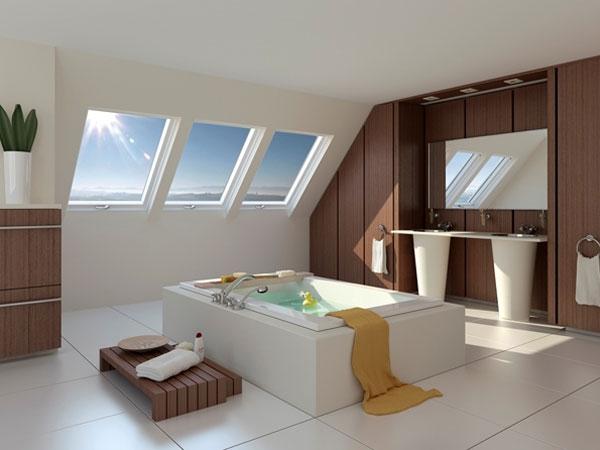 Фото Ванная комната в мансарде