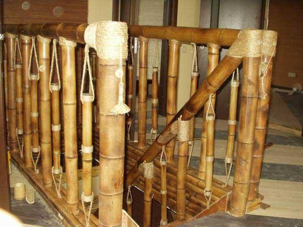 Лестница из бамбука