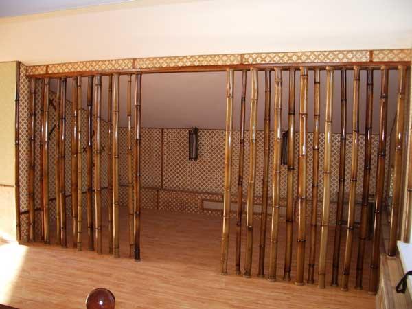 Перегородка из бамбука