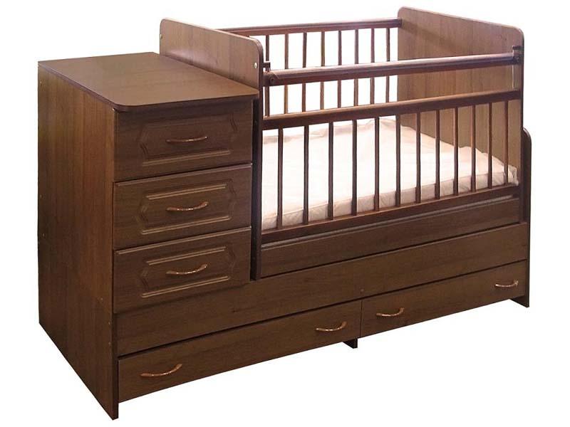 Детские кроватки-трансформеры с маятником, комодом, пеленальным столиком. 12 фото вариантов кроватей-трансформеров для детей