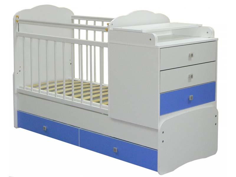 Детская кроватка-тарнсформер с пеленальным столиком