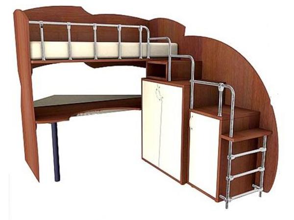 Детская кровать-чердак с рабочей, игровой зоной или диваном внизу. Фото кроватей-чердаков для детей