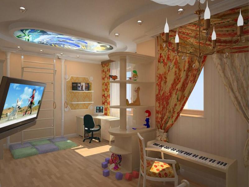 Просторная детская комната в большой квартире