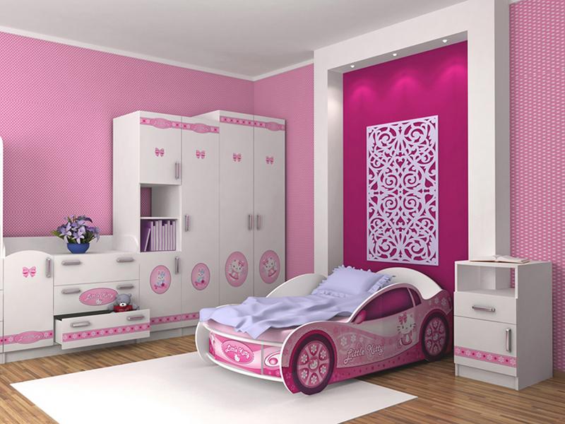 Кровать-машинка Китти