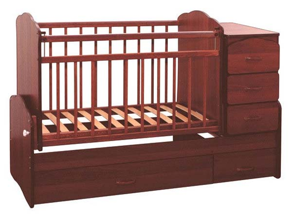 Детская кроватка-трансформер с пеленальным комодом