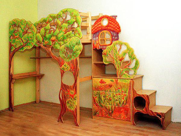 Необычная кровать-чердак для девочки