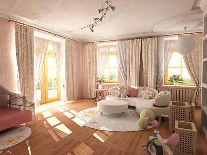 Дизайн зала в большой квартире