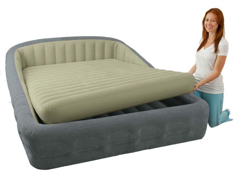 Двуспальная надувная кровать со съемным матрасом