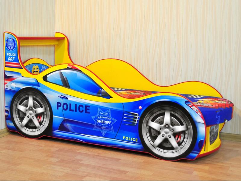 Детская кровать-машина для мальчика. Фото кроватей в виде машин для детей