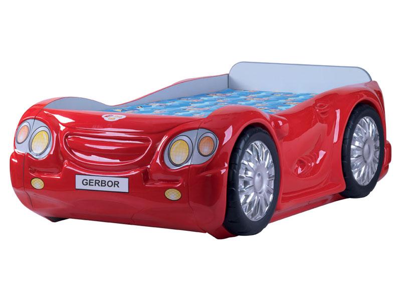 Красная кровать-машина от фабрики Гербор