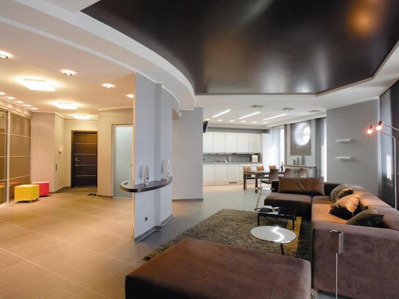 Необычная планировка в большой квартире