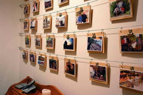 Как разместить фотографии на стене красиво и оригинально