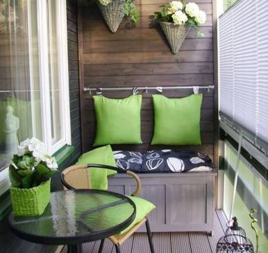 Варианты дизайна для маленьких балконов