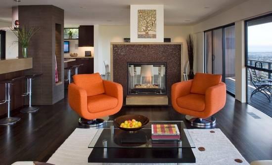 Оранжевое настроение – цвет солнца в интерьере вашего дома