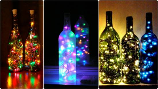 Мастер-класс по изготовлению светильника из бутылки