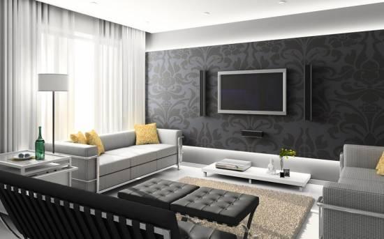 Чёрный цвет в интерьере: правила использования в дизайне