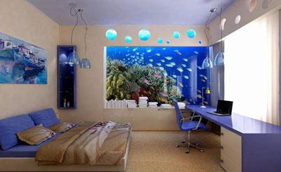Морской интерьер. Дизайн комнаты в морском стиле